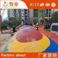 广州牧童直接供应幼儿园EPDM安全拼接地垫环保无毒可定制