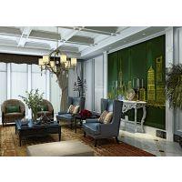 山东优丽雅软包加盟直营美式书房背景墙寓意丰收软包硬包PVC结合匠心工艺