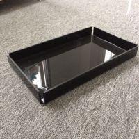 东莞拓源生产亚克力托盘酒店 有机玻璃托盘黑色长方形酒吧 卫生间洗漱用品托盘定制