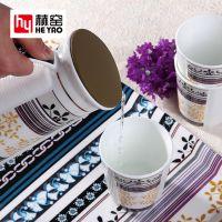 唐山赫窑 骨瓷咖啡具冷水壶大容量凉水壶双开口壶茶咖盖两用茶壶乔迁送礼品