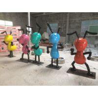 儿童乐园卡通蚂蚁雕塑摆件 玻璃钢雕塑造型制品