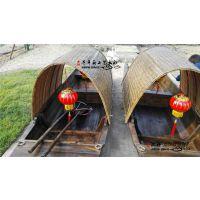 太仓装饰船厂家直销乌篷船中式木船小渔船