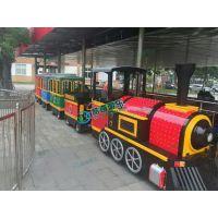 商场无轨小火车游乐设备 公园大型电动无轨道火车价格