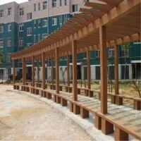 现货 水泥仿木花架 水泥仿木走廊 葡萄架 厂家销售各种仿木产品