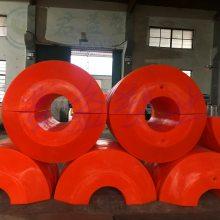 大型两半体浮筒 君益厂家直销大浮力圆型浮筒