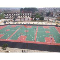 广西塑胶球场施工厂家 塑胶篮球场施工选广西三杰体育