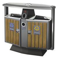 户外优质垃圾桶 街道钢木果皮箱 专业生产垃圾桶厂