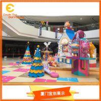商场开业圣诞装饰道具 主题IP布置执行厂家 欢迎来图定制