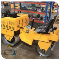 小型压路机厂家,三人行载人式压路机工作效率更加给力