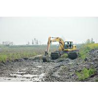 淄博斗山215-9水上挖掘机租赁水路挖掘机出租