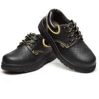 耐磨防滑橡胶底防护鞋 带透气孔 钢头钢底防砸防刺穿 劳保鞋