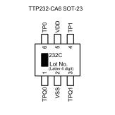 2通道电容式触摸开关感应IC TTY6853 SOP8