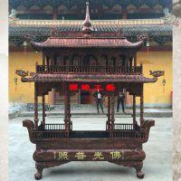 供应两层长方形八龙柱佛堂佛寺高香香炉观音寺铸铁大型户外香炉价格