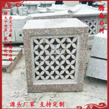 石灯笼制作 石灯笼尺寸风水图片 优质石材古建雕刻