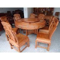 西安中式实木餐桌椅、红木老榆木餐桌椅、定做厂家