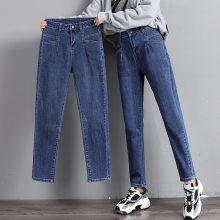 便宜牛仔裤批发韩版时尚高腰女士牛仔裤清货高腰牛仔裤清仓处理