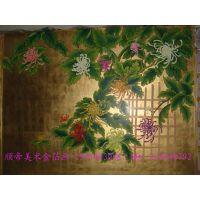 金箔壁画国学壁画寺庙背景墙壁画