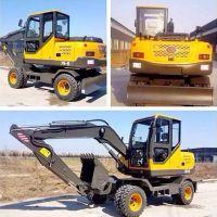 轮式挖掘机价格 山鼎农用轮式挖掘机厂家