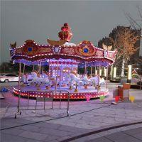 郑州格林游乐设备专业生产玩的旋转木马豪华转马