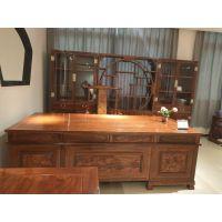 名琢世家红木家具刺猬紫檀书柜花梨木博古架自由组合实木办公桌