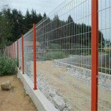 折弯钢丝隔离栅 桃形柱围栏 风景区绿化网栏
