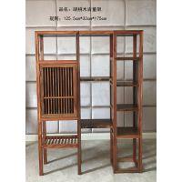 厂家定制现代中式全实木简约客厅置物架胡桃木博古架书架茶柜工艺柜子陈列柜