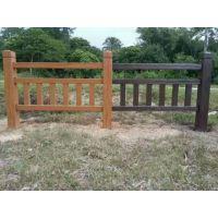 可定制仿木护栏 钢筋水泥仿木栏杆 河道混凝土栏杆