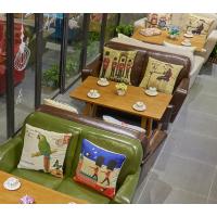 倍斯特定制北欧实木暖色主题沙发休闲咖啡奶茶中餐沙发