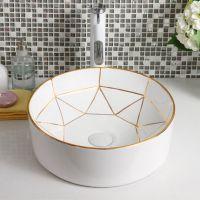 卫生间新款欧式豪华陶瓷创意简约彩色洗手盆