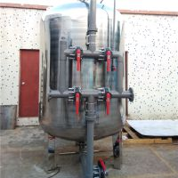 广东晨兴直销饮料厂1500*2700石英砂不锈钢机械过滤罐