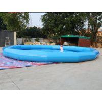 游泳气垫池价格 武汉哪里供应充气水池玩具 充气水池适合什么年龄孩子玩