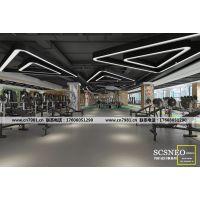 成都专业健身房设计|高端健身房设计