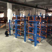 南昌长型材货架 天车存取 伸缩式钢管货架 钢带存储架 可伸缩重型架