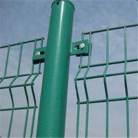 安平鑫筑丝网 双边丝护栏 绿色 包塑铁丝护栏网 工地圈地防护网