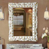 厂家直销 高档树脂PU欧式镜框 玄关镜 长方形 卫浴镜子 装饰镜 KT060