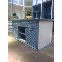 蓝诗洛全铝书柜 整体书桌 组合书柜
