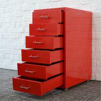 万瑞厂家供应 六层抽屉柜 钢制小型文件储物柜 收纳柜