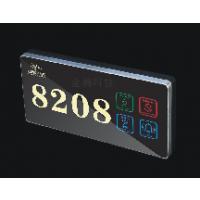 高端酒店86底盒按键触摸电子门牌 门铃LED全天发光 防爆钢化玻璃面板