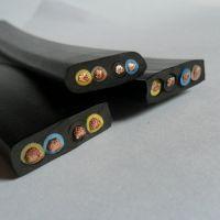 PVC扁平电梯电缆 柔软耐低温扁电线 TVVB2G3芯2.5平方