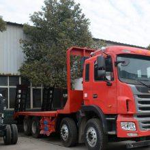 哪里可以买到JAC短轴距前四后八挖机拖车江淮格尔发四桥挖机平板运输拖车