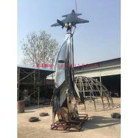 大型不锈钢飞机制作 金属飞机雕塑