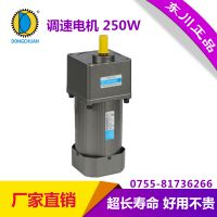 东川电机 交流定速 调速 齿轮减速电机 可逆220V 380V电机 6IK250GU-CF