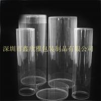 定制尺寸 PVC透明毛巾包装圆罐 透明环保圆筒 圆筒毛刷