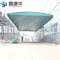 大城县室外防雨活动推拉篷_布伸缩式电动遮雨蓬制造厂家