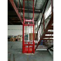 厂家定制8米导轨式电动液压升降货梯 垂直升降液压平台