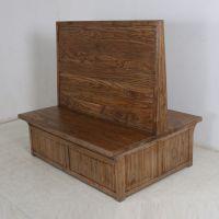 龙岗众美德餐厅现代卡座沙发厂家定做实木卡座沙发008质量保障