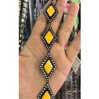 黄色滴油菱形链条钻链线链饰品链子