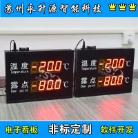 苏州永升源厂家定制 温湿度噪音露点监测显示看板 室内环境看板写真喷涂数码管精准监测