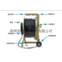 供应野战铠装 单模多模2/4/6/8芯 绕线车防水接头 TPU野战光缆