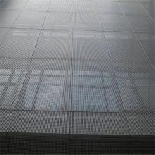 酒店高档钢丝网 不锈钢装饰网 扁条幕墙网